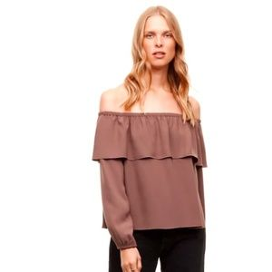 Aritzia Morel blouse off the shoulder top